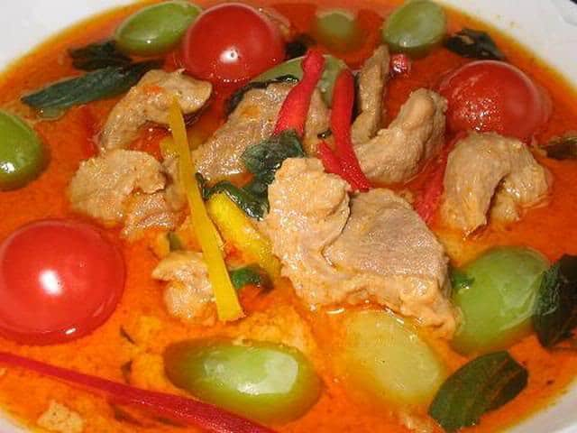 Red Curry with Roasted Duck  recipe
