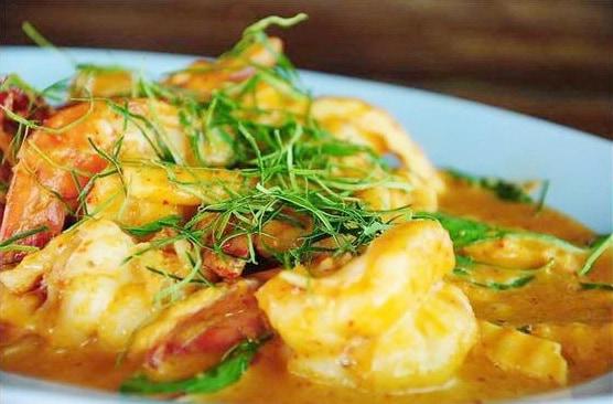 Shrimp in Spicy Coconut Thai Food