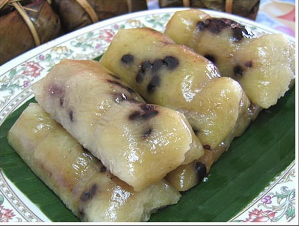 Steamed Glutinous Rice Cakes with Banana