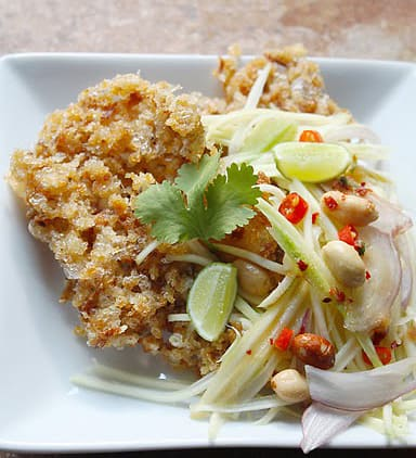 Crispy Fish Salad with Green Mango