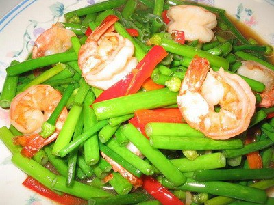 Prawns with Asparagus Recipe