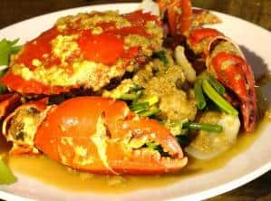 Stir-Fried Crab Meat with Curry Power