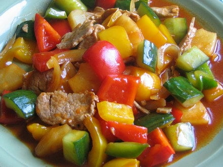 Sweet and Sour Sauce fried with Pork  recipe